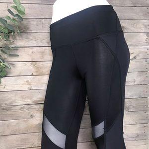 Free People   black sheer block leggings size xs